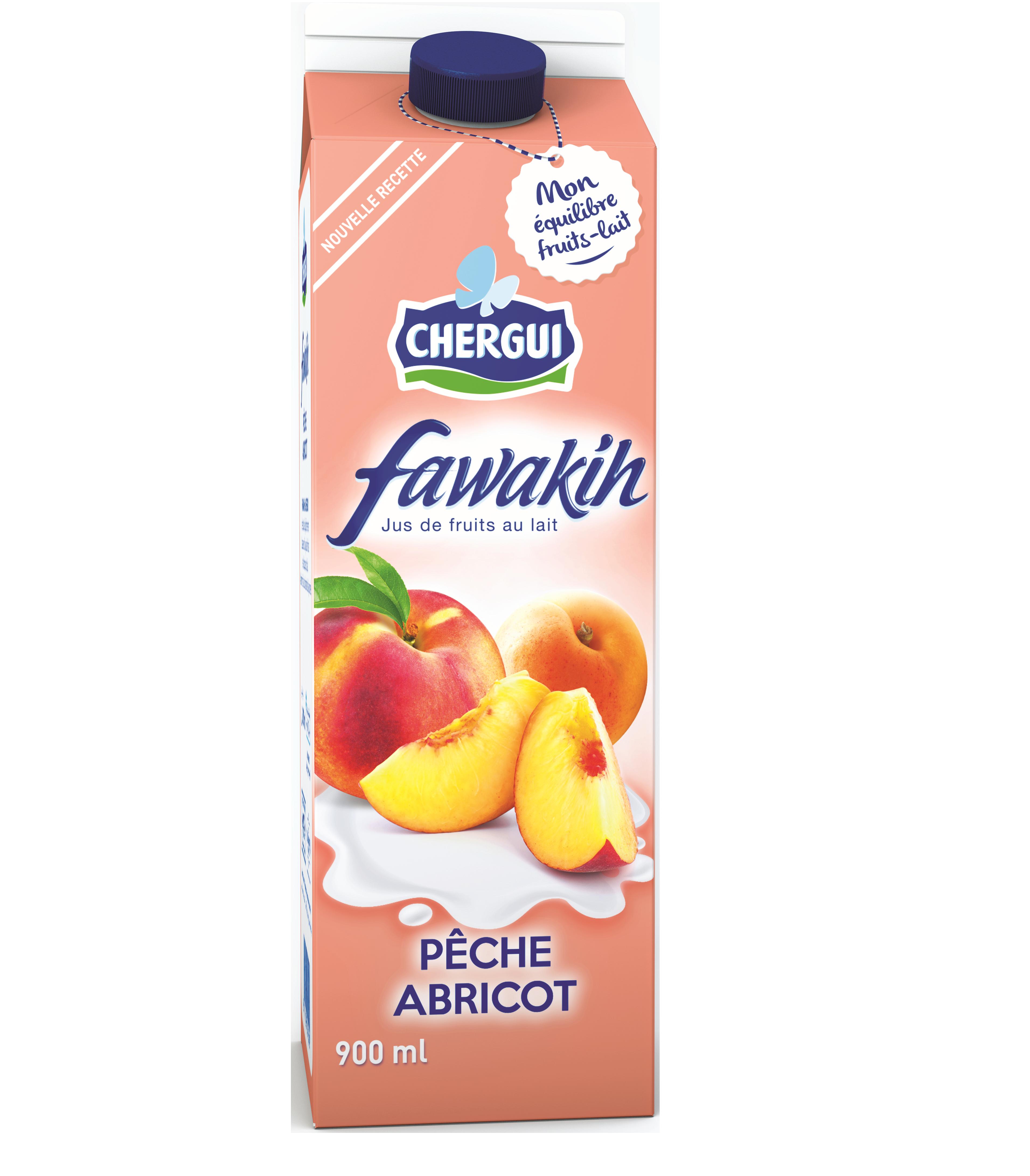 FAWAKIH Jus de Fruit au Lait Pêche/abricot